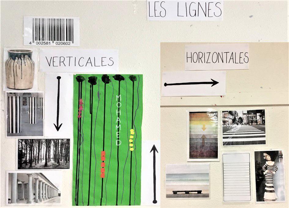 Lignes Verticales Et Horizontales P 1 P 2 Ms Lutins De Maternelle En 2020 Ligne Verticale Maternelle Ligne