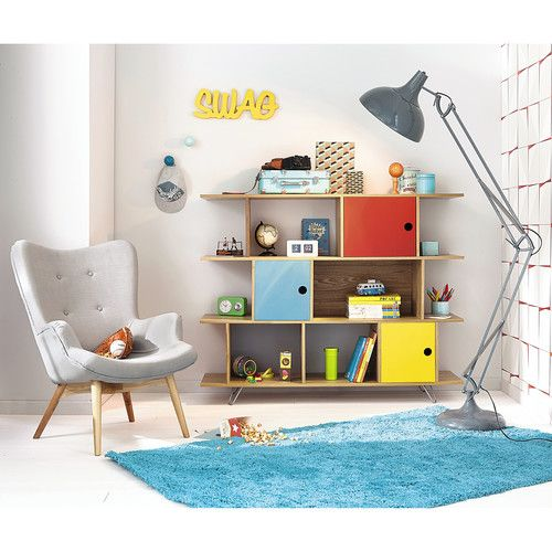 biblioth que vintage multicolore kids rooms bedrooms. Black Bedroom Furniture Sets. Home Design Ideas