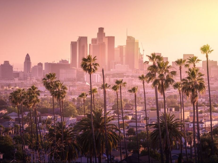 L A In 2 Days Los Angeles Skyline Beautiful Sunset Skyline