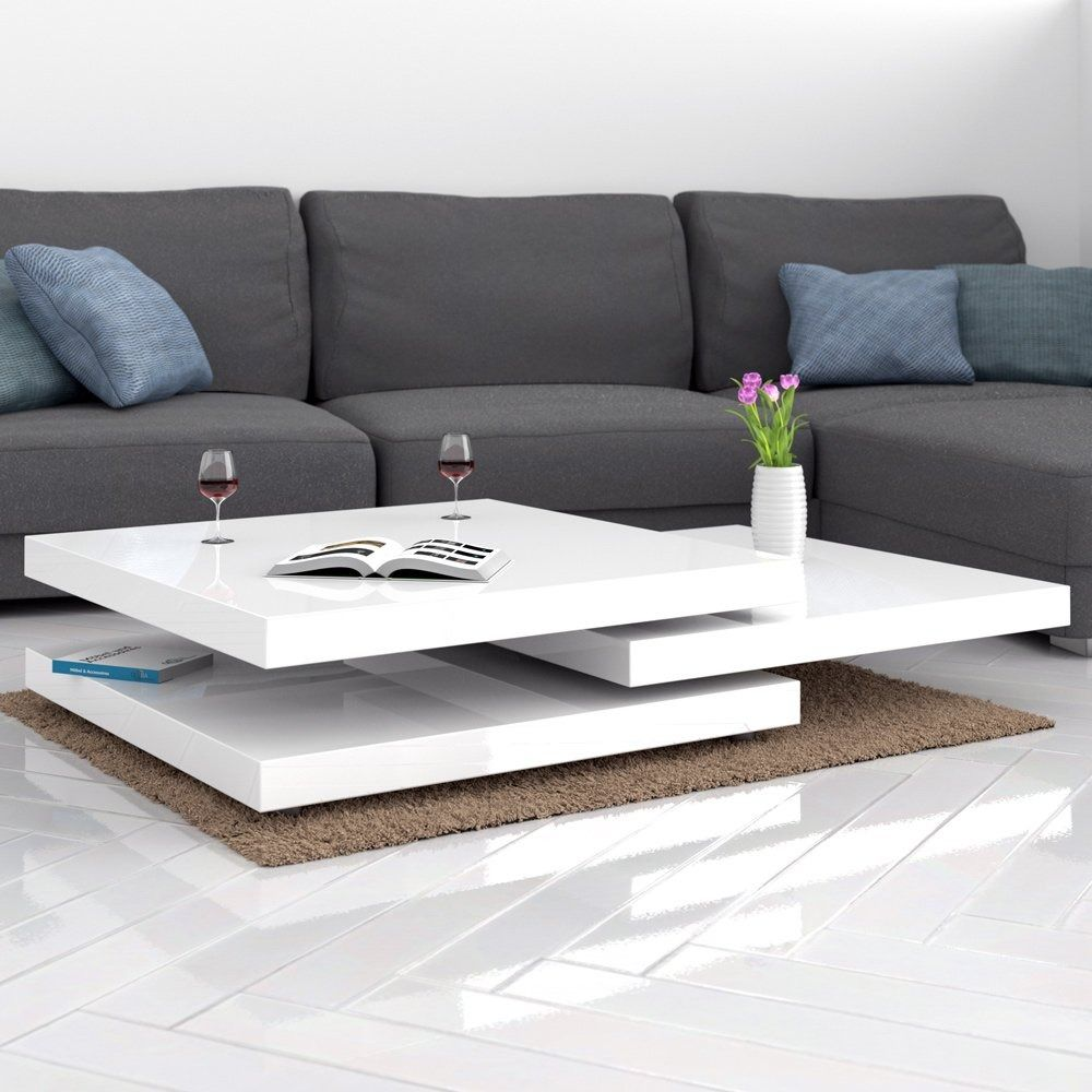 deuba couchtisch wohnzimmertisch hochglanz beistelltisch tisch sofatisch tischplatte 360
