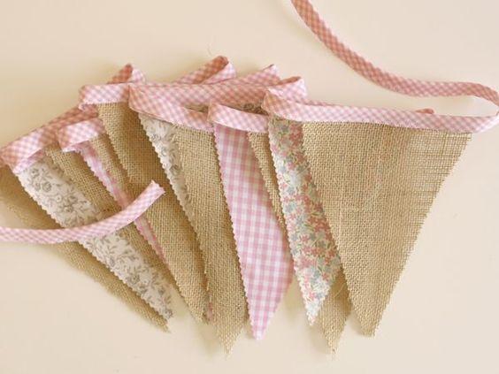 C mo hacer una guirnalda de banderines de tela pinterest - Guirnaldas de tela ...