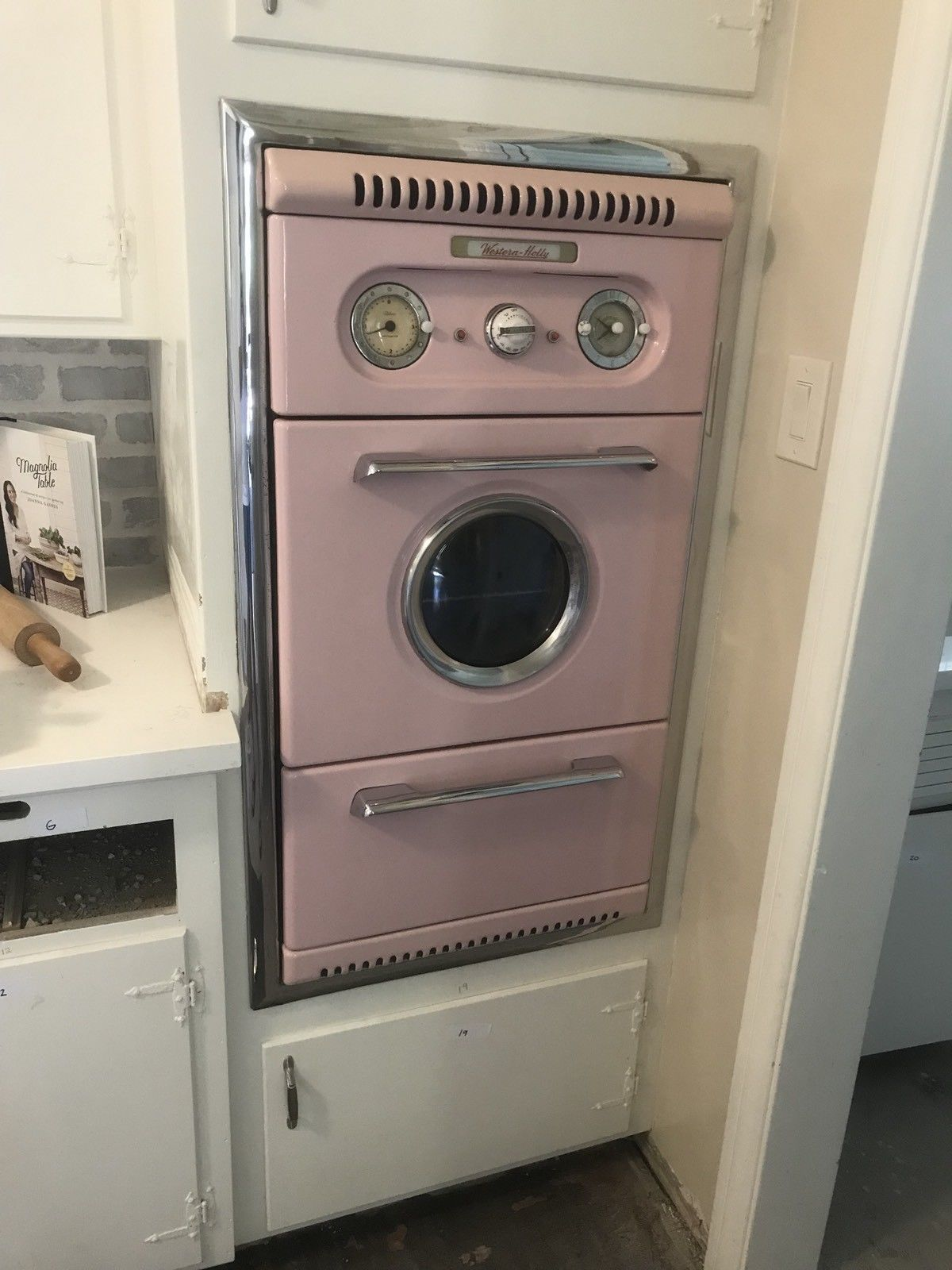 Western Holly Wall Oven Stove Pink 1950s Vintage Stove Oven Wall Oven Combination Wall Oven