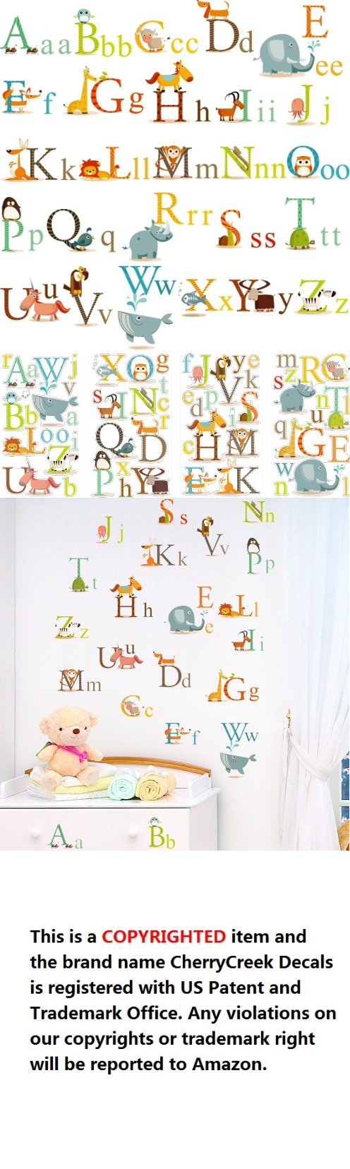 Animals alphabet baby nursery peel stick wall art sticker decals animals alphabet baby nursery peel stick wall art sticker decals for boys and girls can you say your abcs make learning alphabet fun and entertaining amipublicfo Images