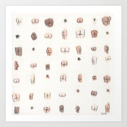 Butts Art Print By Julia Heffernan Society6 Framed Art Prints
