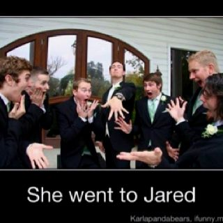 This makes me laugh....  Awesome picture for the groom and groomsmen!!!