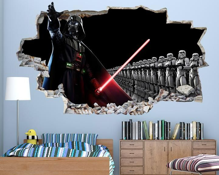 Cool Star Wars Boys Bedroom Decal Vinyl Wall Sticker Q046 Star Wars Boys Bedroom Star Wars Bedroom Star Wars Room
