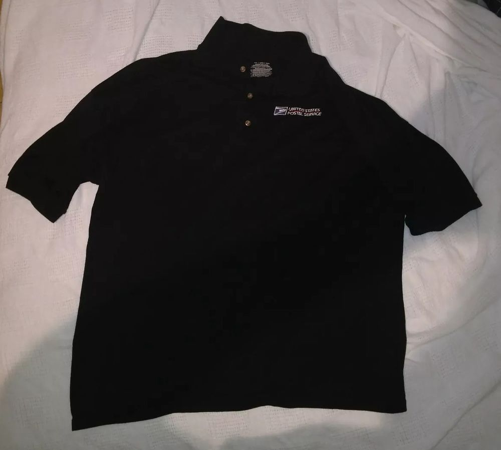 Usps Uited States Postal Service Uniform Shirt Navy Blue Xxl