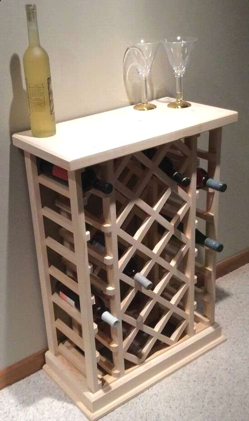 14 Diy Wine Racks Made Of Wood Rustic Wine Racks Wine Rack Plans Wine Shelves