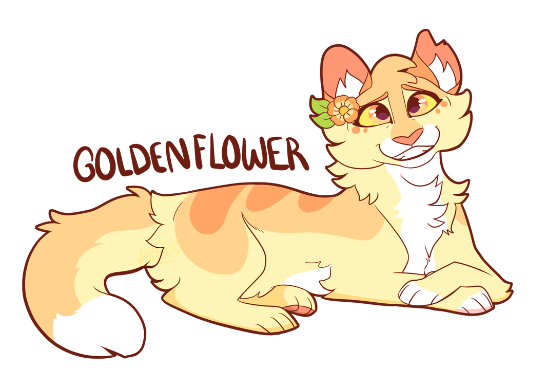 Goldenflower By Hellsfawn Warrior Cat Drawings Warrior Cats Art