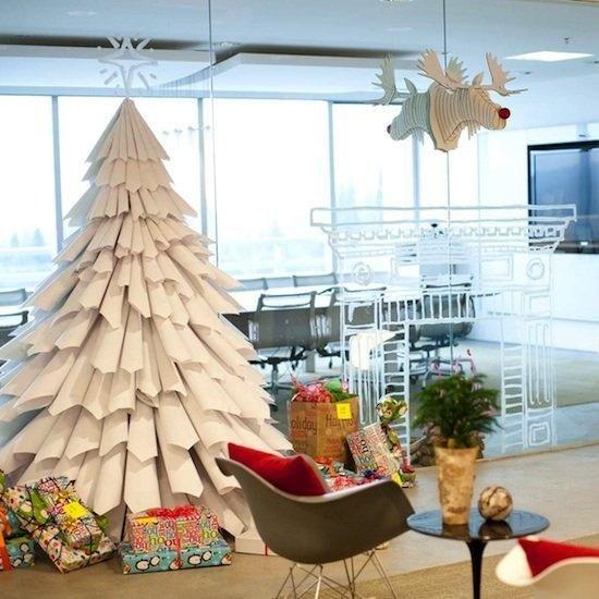 A Diy Tree That Doesn T Drop Needles Diy Paper Christmas Tree Modern Christmas Tree Alternative Christmas Tree