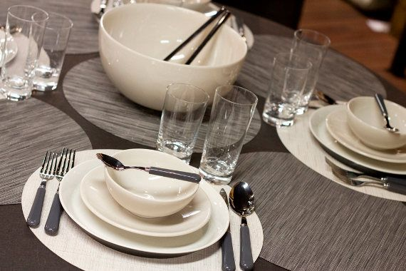 contemporary winter table setting with jars tourron and iittala ...