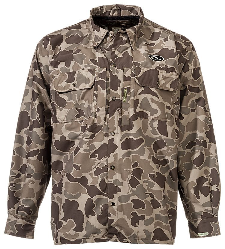 028e7a15797c4 Drake Waterfowl Systems Old School EST Heat Escape Waterproof Button-Up  Shirt | Bass Pro Shops