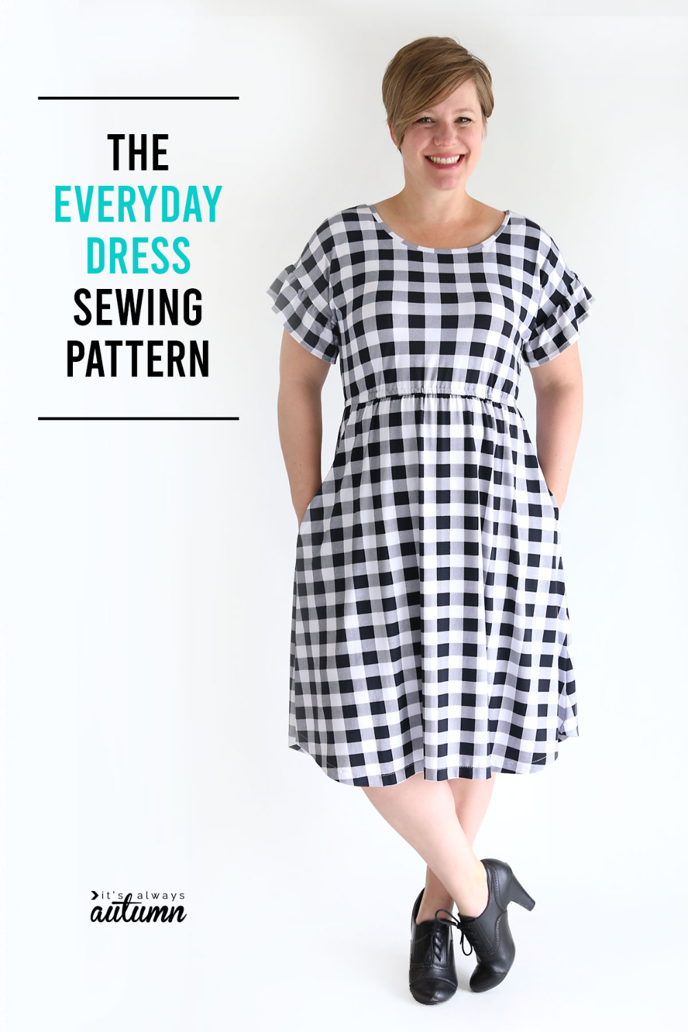 The Everyday Dress sewing pattern + ruffled sleeves - It's Always Autumn