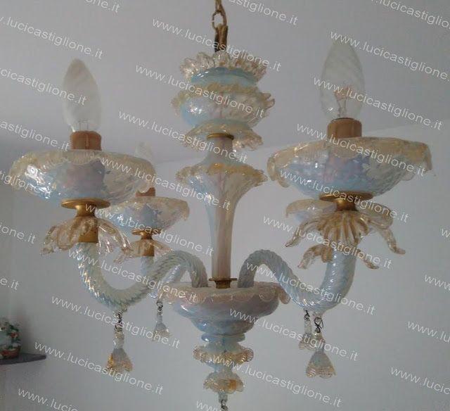 Ricambi per lampadari in vetro di Murano Spare parts for