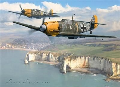 Image result for paintings messerschmitt 109 battle of britain