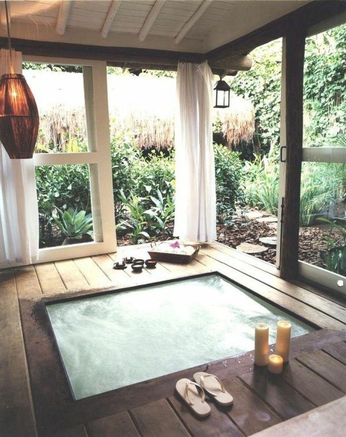 Faites vous le plaisir de la baignoire jacuzzi! Small indoor pool - fenetre pour maison passive