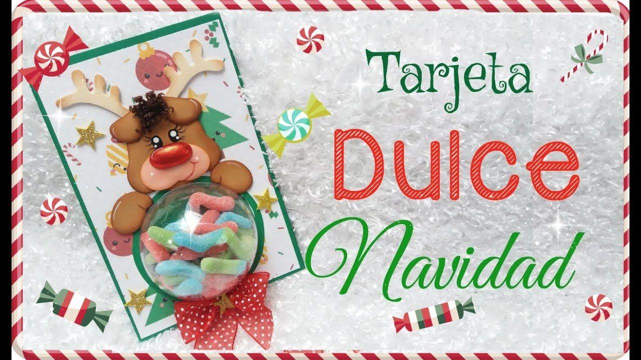 6 Tarjetas Para Regalar En Navidad Dulce Tarjeta Con Gomas Col Navidad Invitaciones Tarjetas Tarjetas Navideñas Manualidades