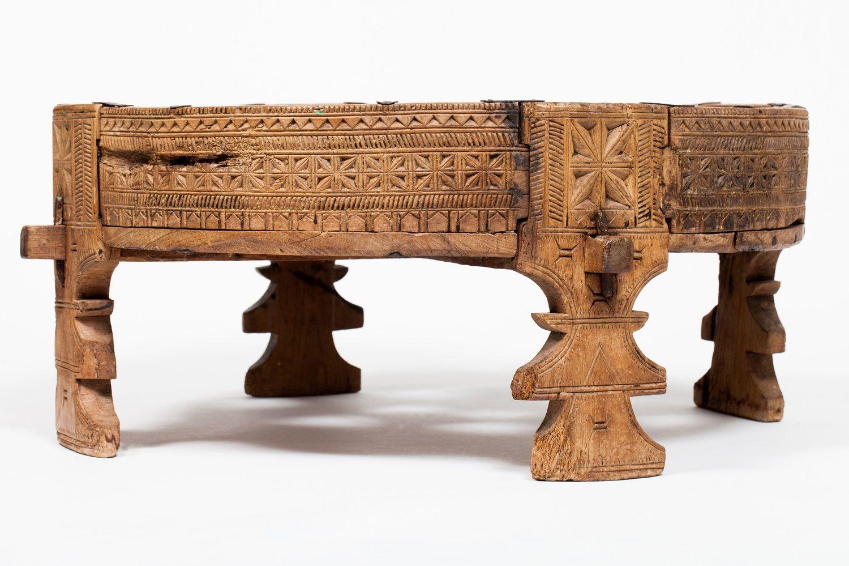 Antique Indian Chakki Table/ Ottoman Ottoman table
