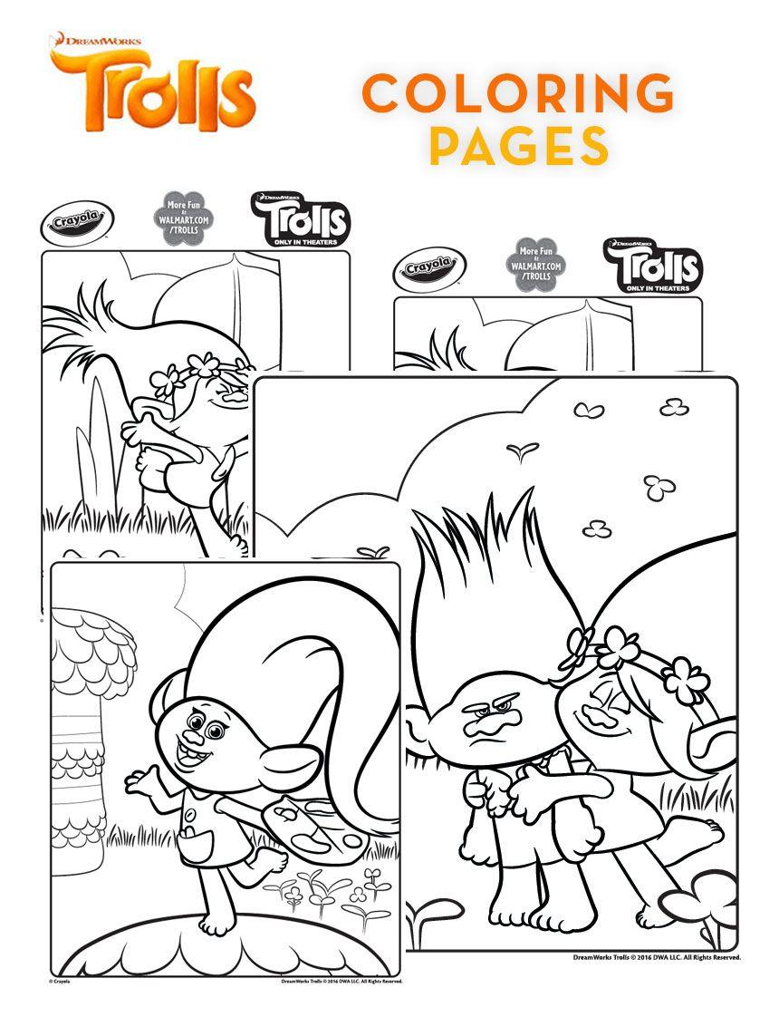 Imagen De Poppy Trolls Para Colorear Dibujos Para Colorear De