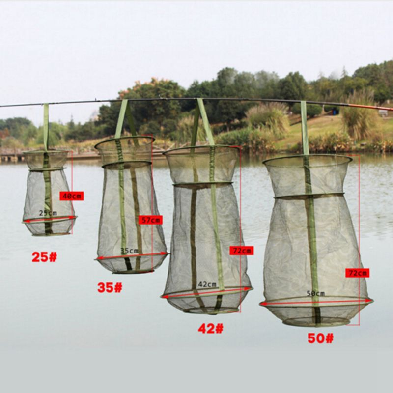 Foldable Fishing Net 3 Layer Round Trap Metal Frame Network Casting ...