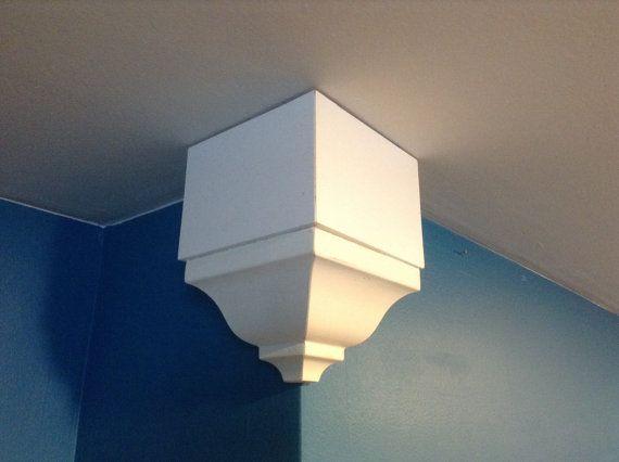 Outside Crown Molding Corner Block Box Of 2 Crown Molding Diy Crown Molding Home Decor