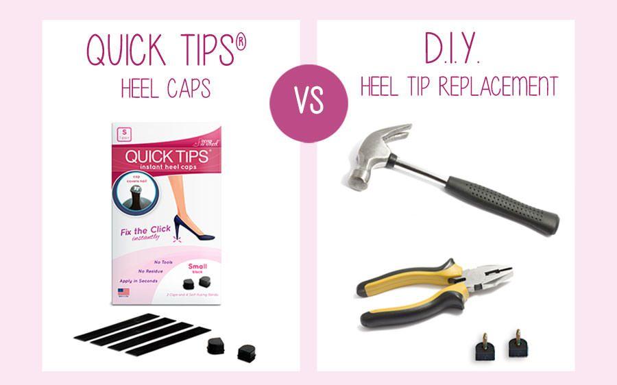 Fixing heel taps