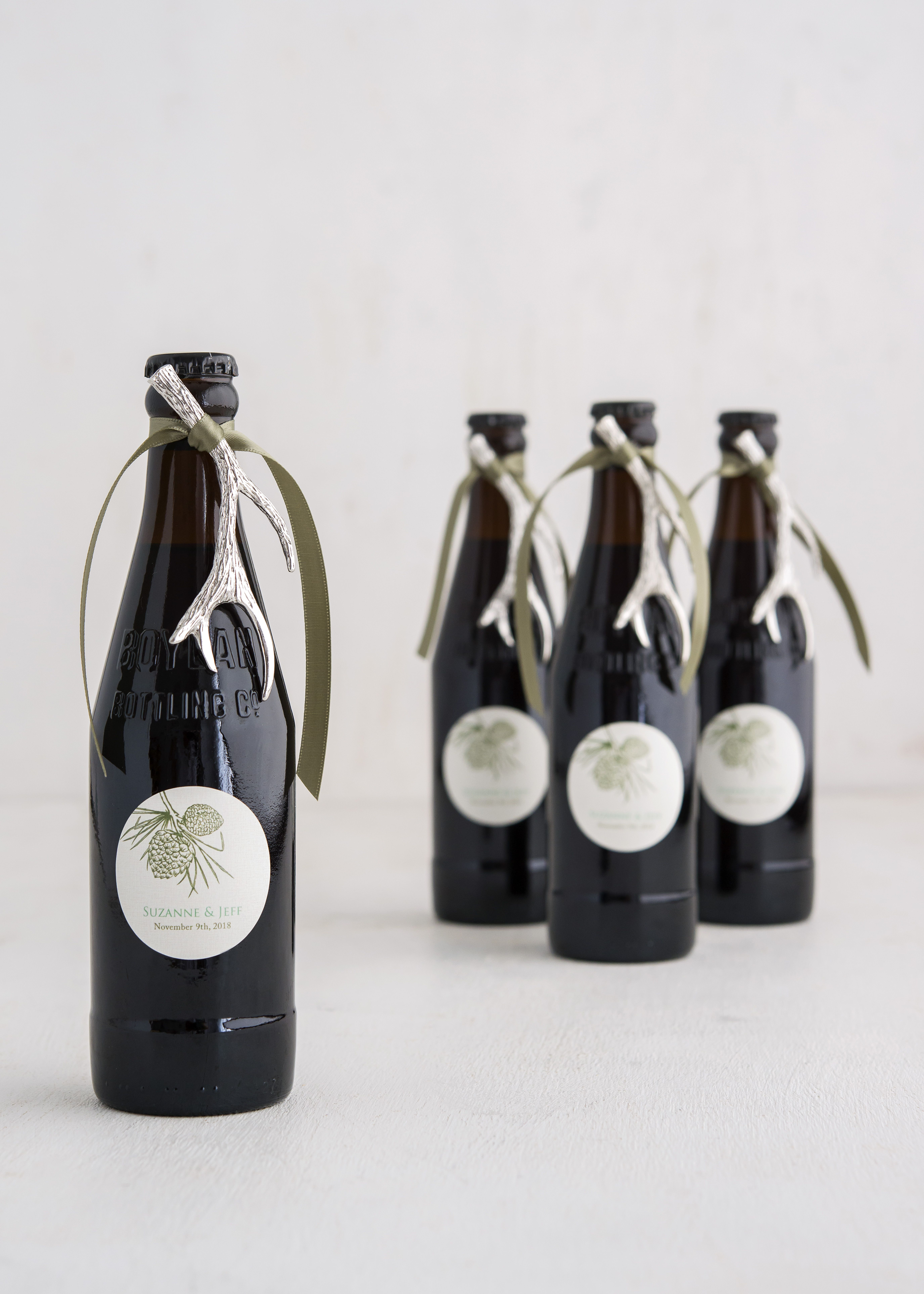 Silver Antler Bottle Opener Favor | Antlers, Favors and Weddings