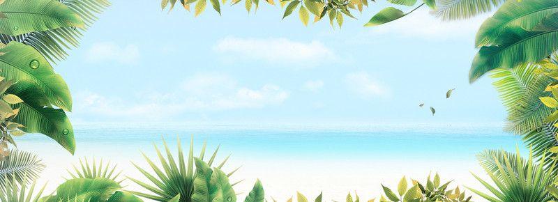 Summer cool breeze resort background blue background, Summer