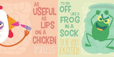 Illustrations explain what different Australian idioms actually mean