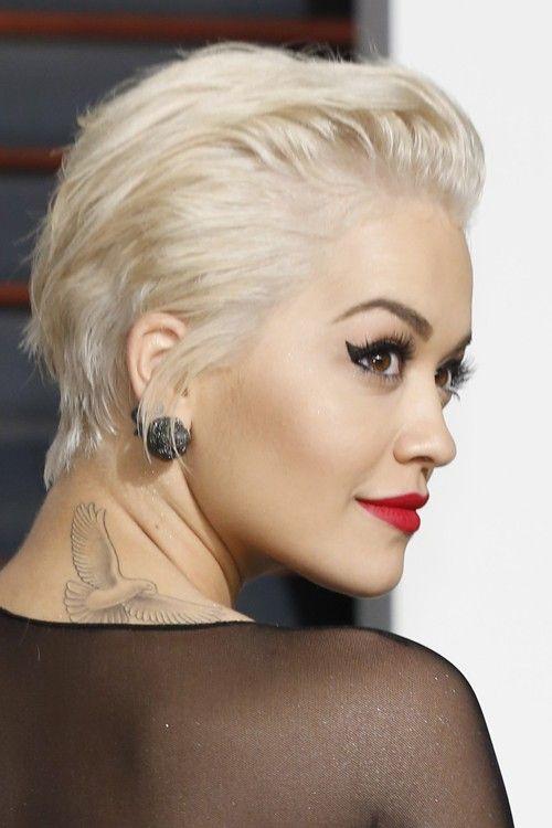 Rita Ora Short Hair Slicked Back Google Search Kapsels Voor Kort Haar Kort Haar Kapsels