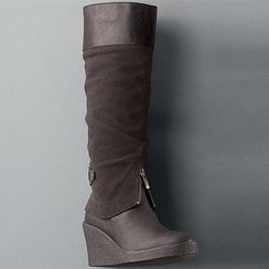 Interesting Wedge boots from sears $200+