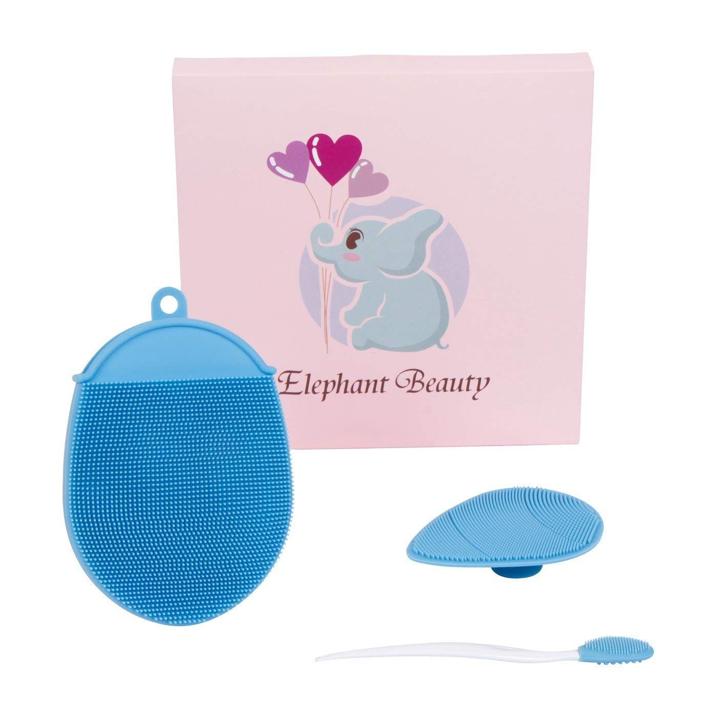 Elephant Beauty Silicone Cleansing Brush Set With Face Pad