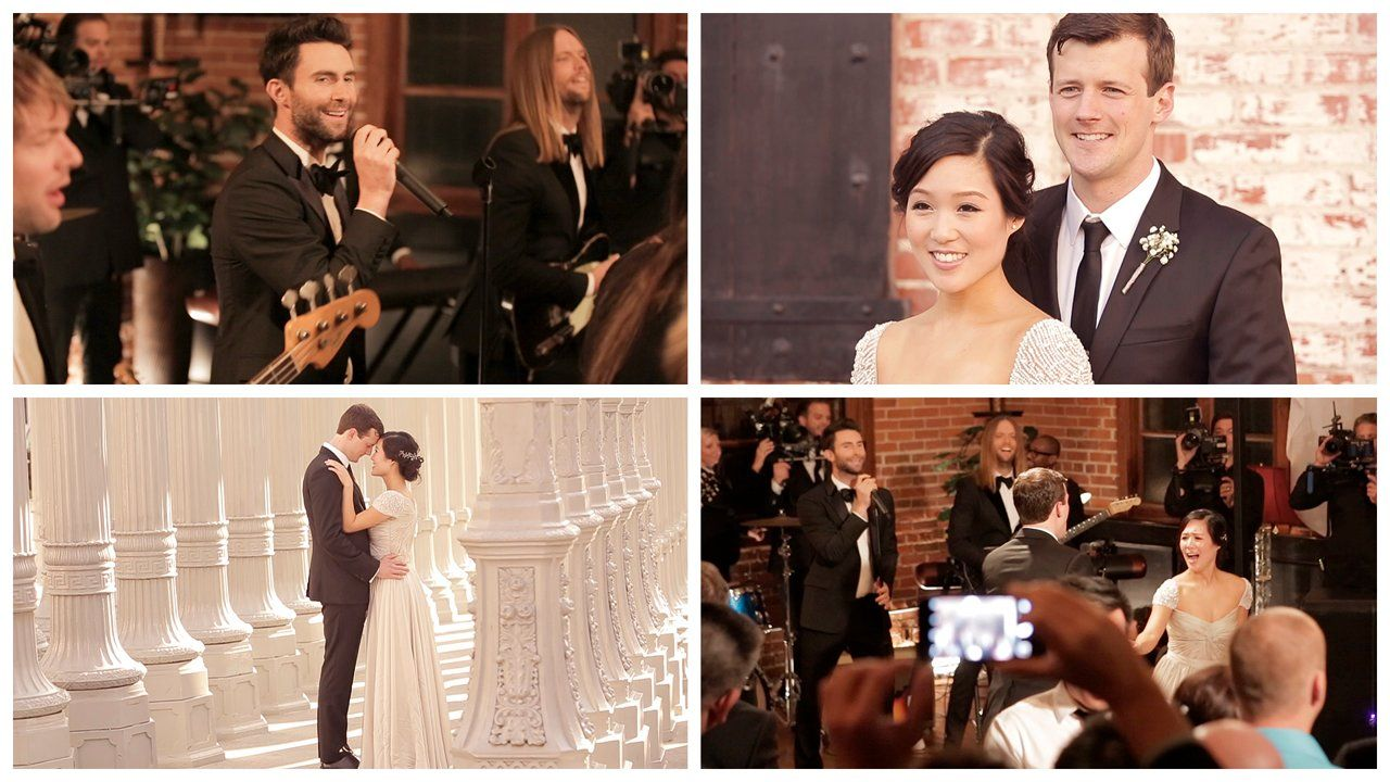 Melanie Ryan December 6 2014 Maroon 5 Sugar Music Video Wedding Crash Carondelet House Los Angeles Wedding Videos Wedding Film Wedding Crashers