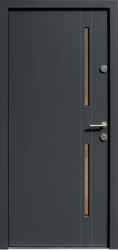 Drzwi zewnętrzne nowoczesne model 453,21 antracyt