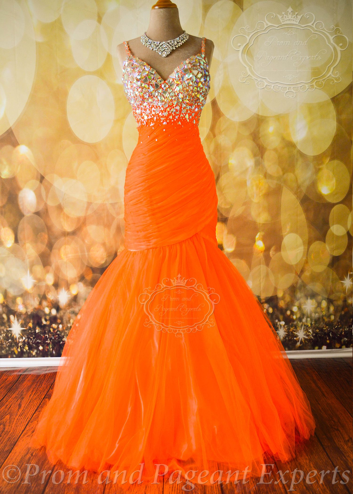 Neon Orange Mac Duggal From Prom And Pageant Experts In 2019 Prom