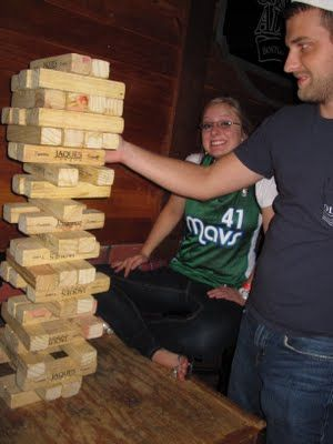 """Life size Jenga. 2x4s sliced n half length-wise (makes them 1 3/4"""" wide and 1 1/2"""" tall)"""