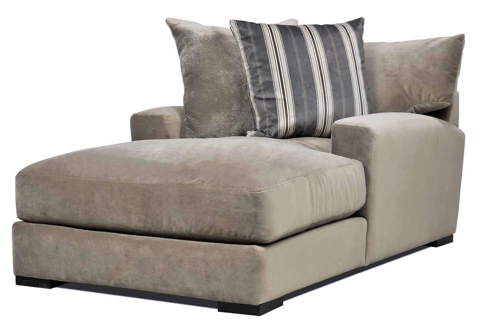 Sofa With Chaise Lounge Double Wide Chaise Lounge Indoor With 2 Cushions Chaise