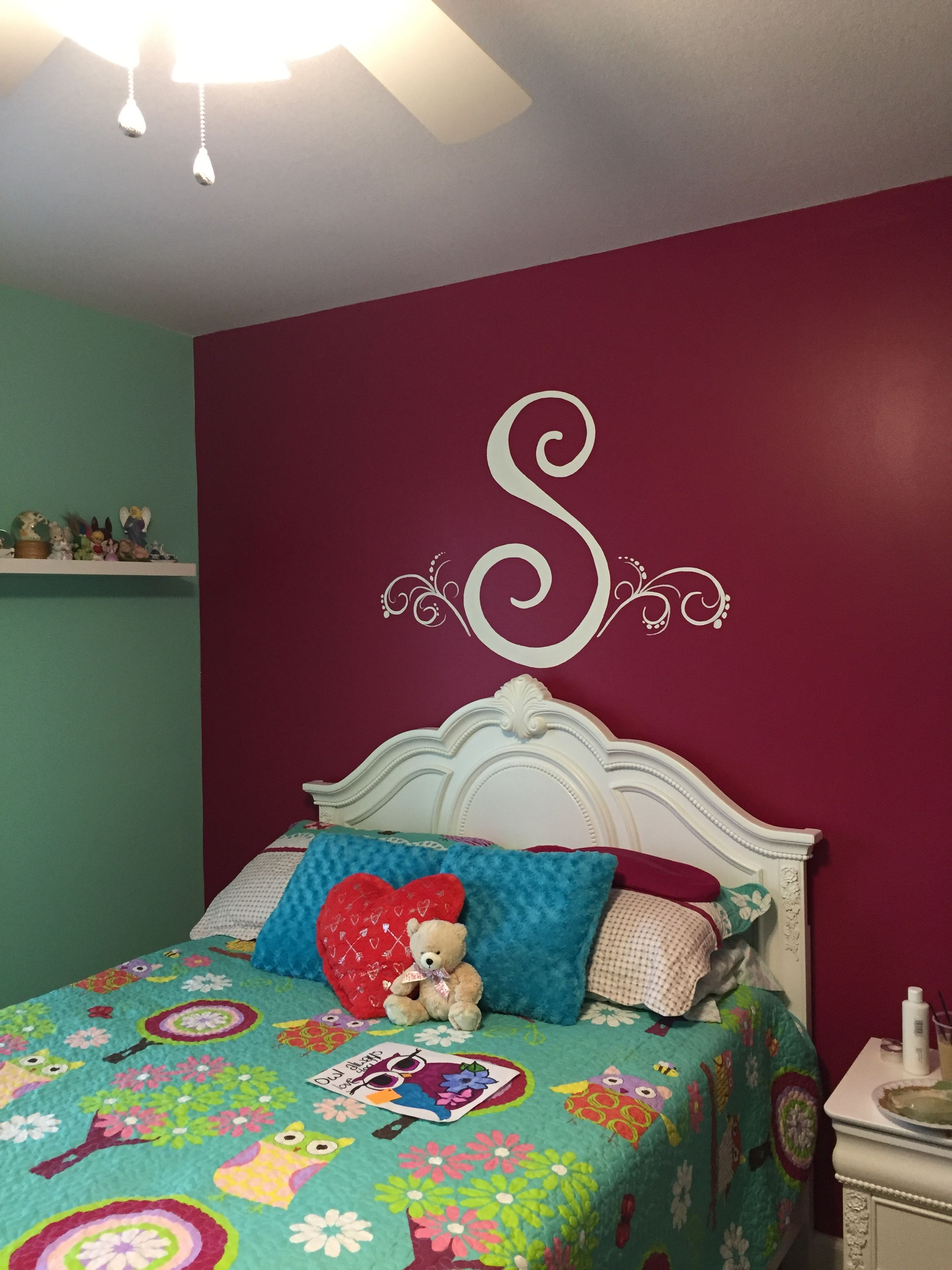 I Painted This S Initial In A Bedroom My Murals