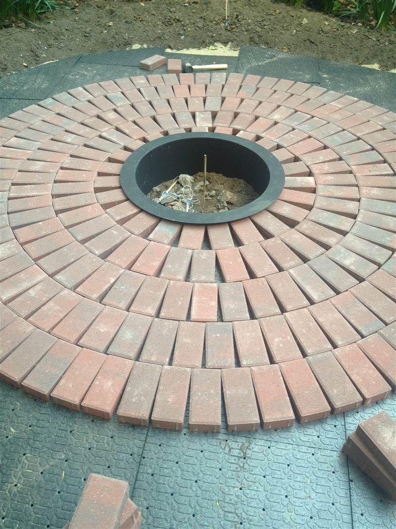 Backyard Beauty Create Your Own Brick Patio With This Diy Diy Brick Patio Diy Patio Pavers Brick Patterns Patio