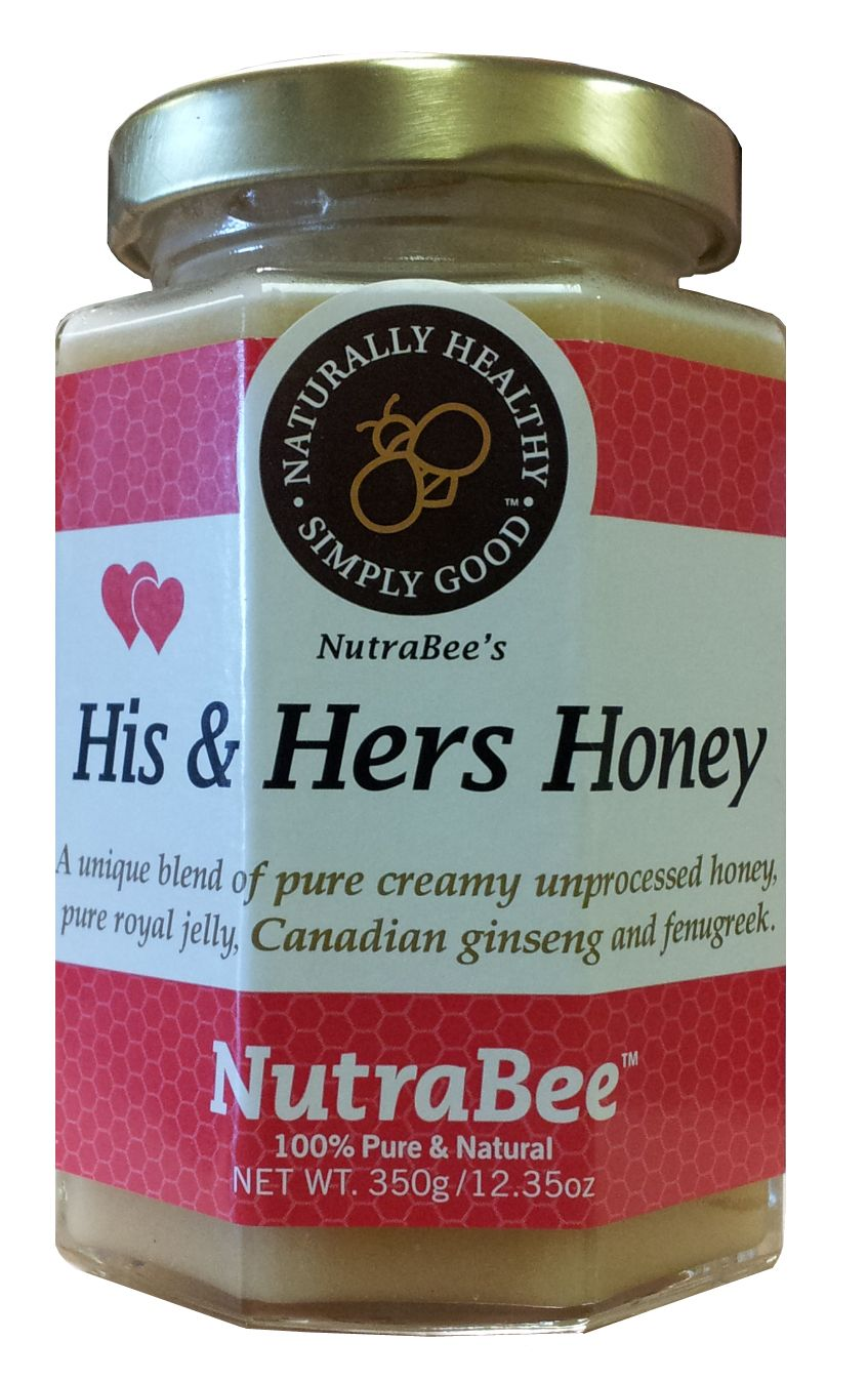 his and hers honey with fresh royal jelly organic fenugreek ginger and pure canadian ginseng. Black Bedroom Furniture Sets. Home Design Ideas