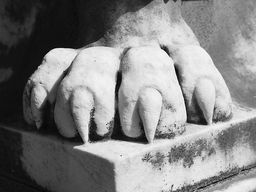 Elmwood Cemetery - Lion's Foot by Jon Woodhams  #blackandwhite #Memphis #elmwoodcemetery #EvenBetterOnYourWall @jon_woodhams