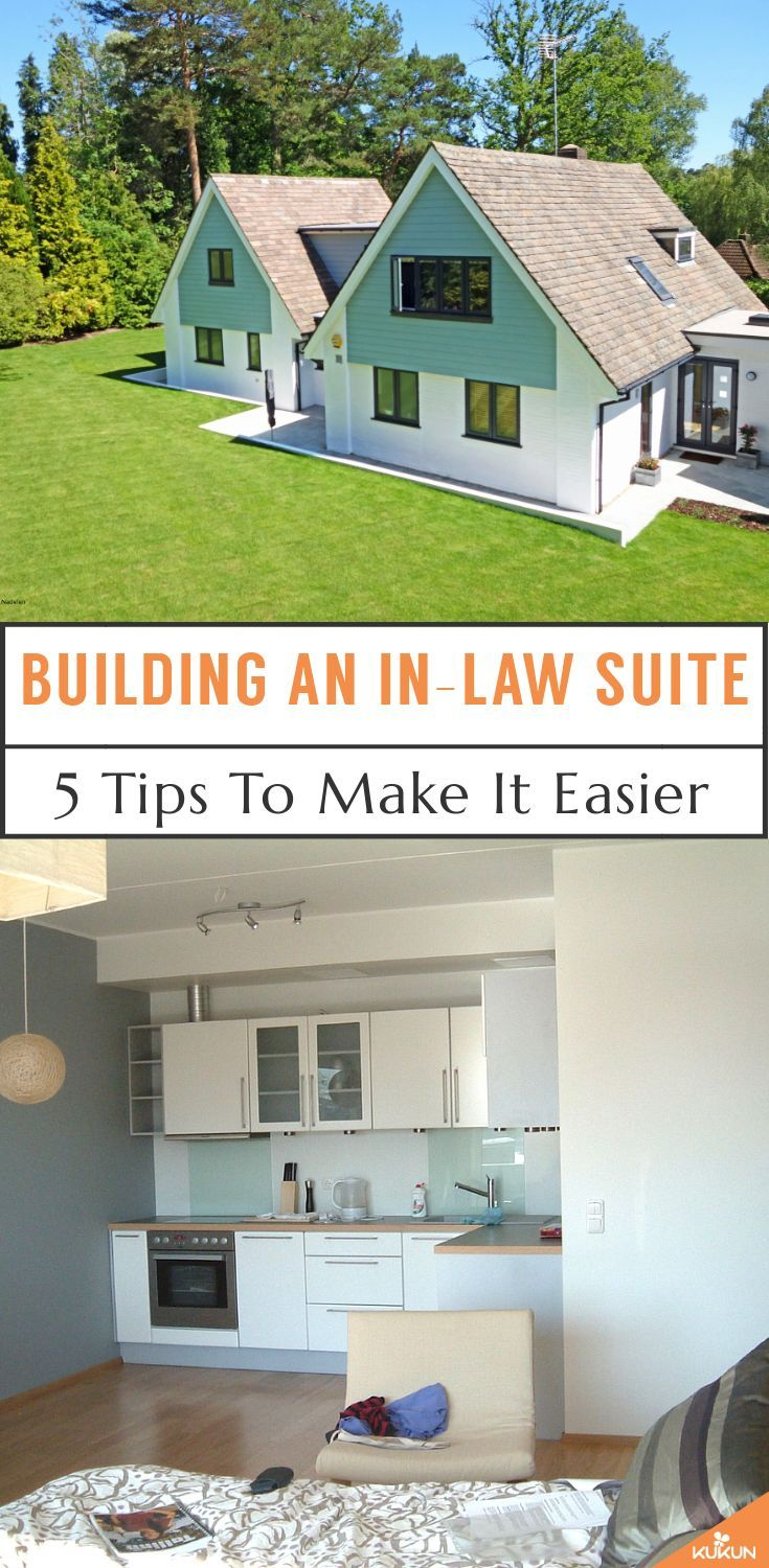 Mother in law suite building tips for first time homeowners
