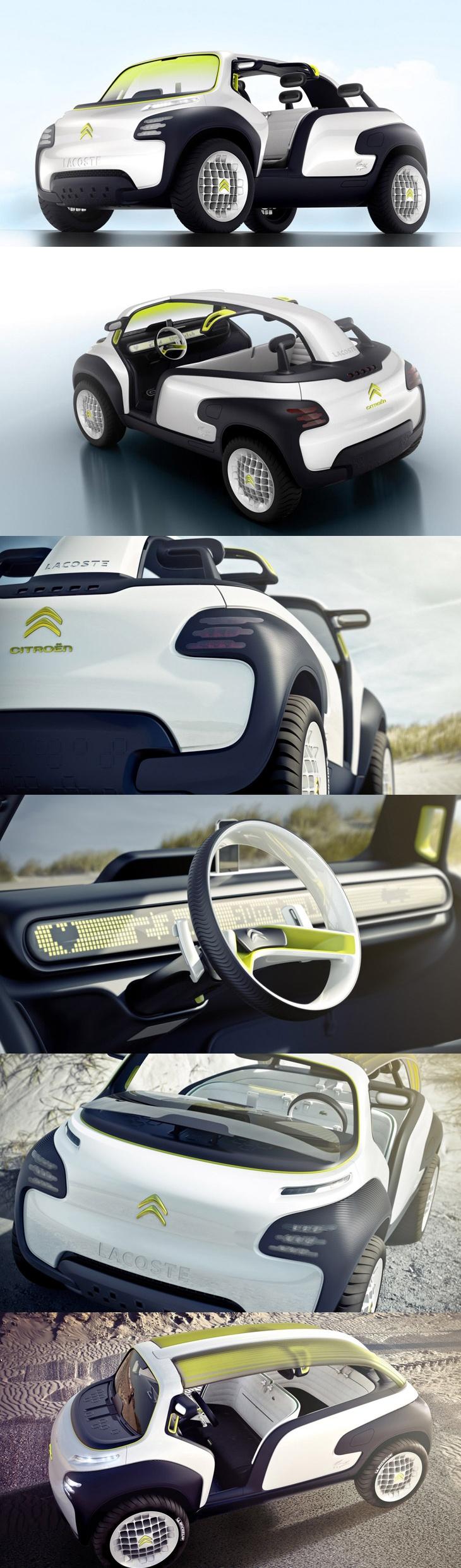 Concept car - CitroA«n   Lacoste = funny future car! lol