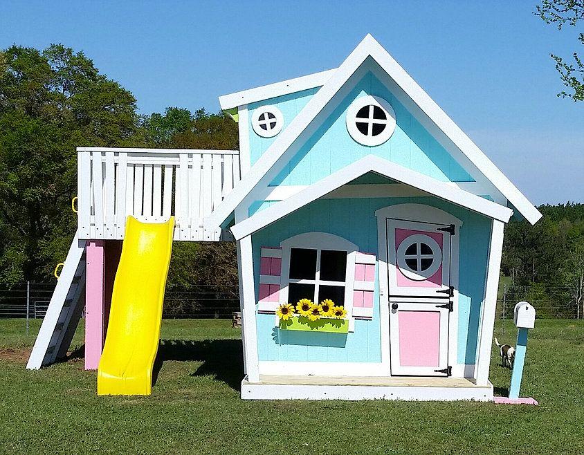 Imagine That Playhouses The Big Playhouse Xl Unique Playhouses Backyard Play Big Playhouses