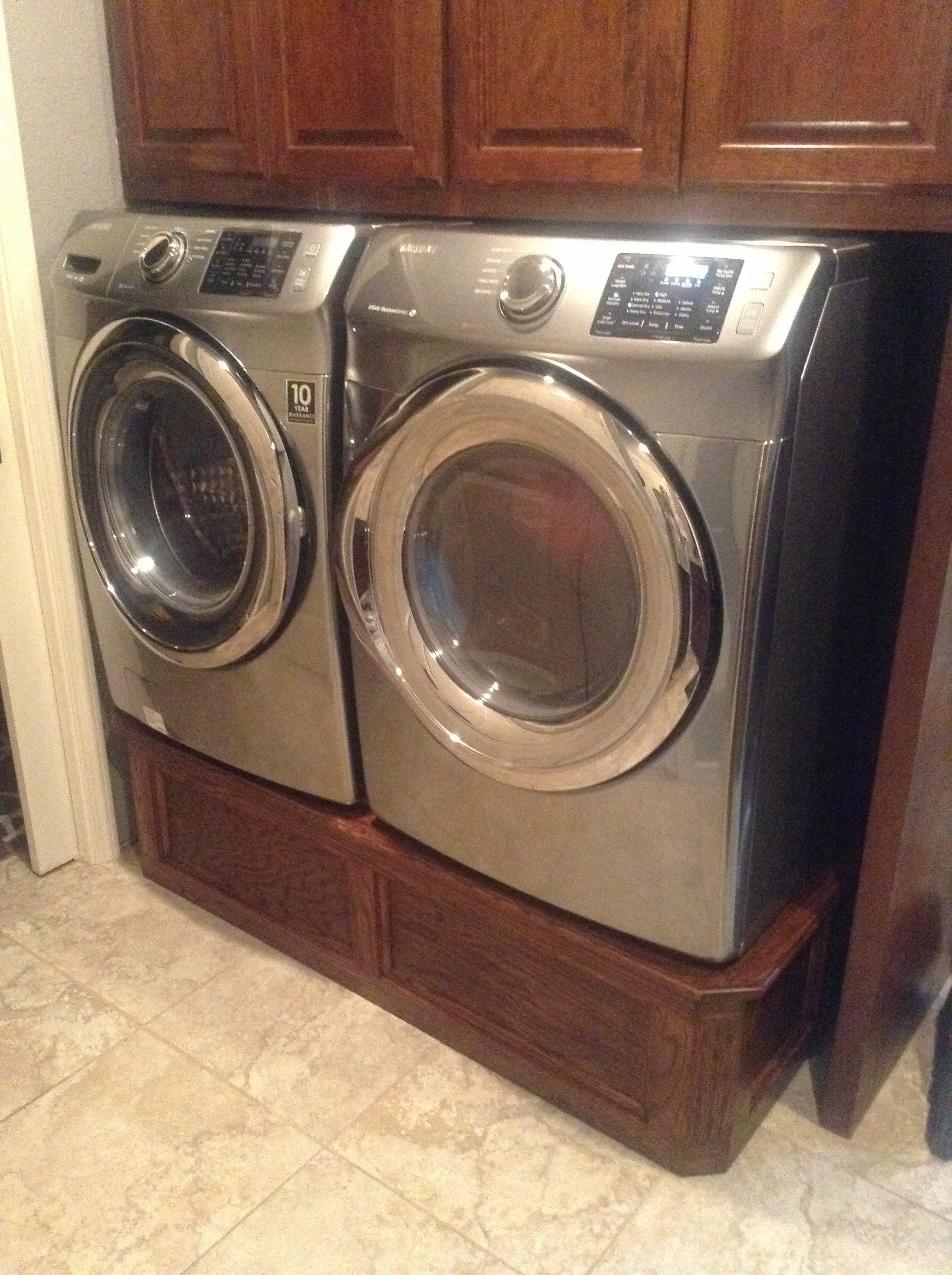 idea and this i pedestal pedestals pin front to dryer like raise the washer loader