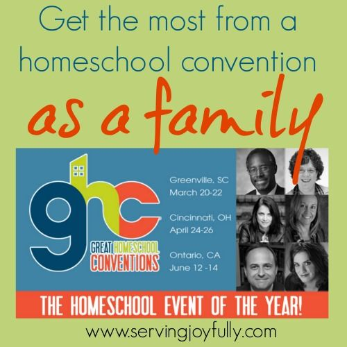Get the most from a homeschool convention as a family | Serving Joyfully   #GreatHomeschoolConvention #ihsnet