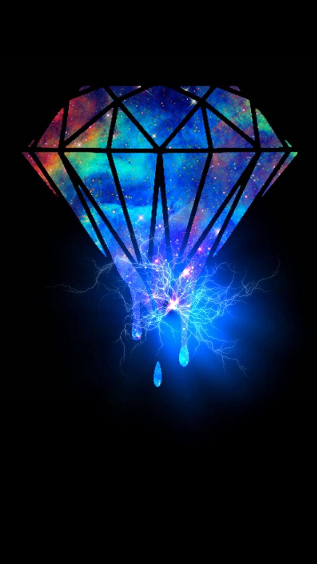 Iridescent Diamond Pink diamond wallpaper, Diamond wallpaper