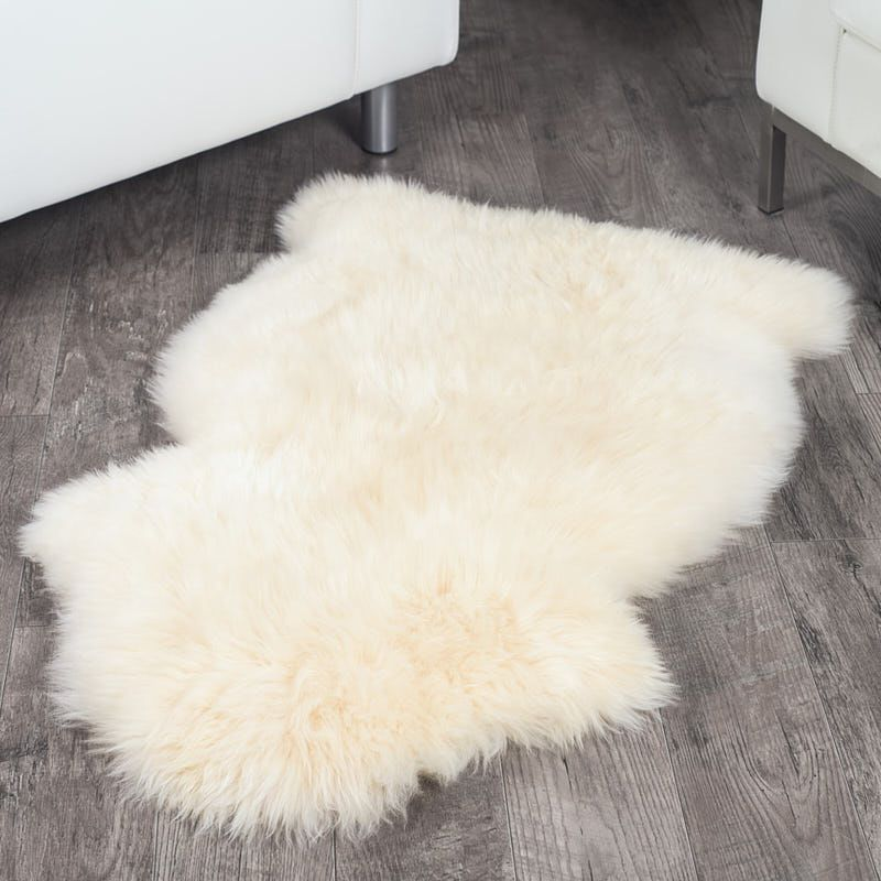 Ivory White Sheepskin Rug 2x3 5 Ft Faux Sheepskin Rug