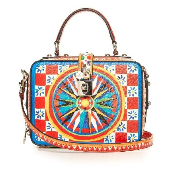 228dd46ca3 Dolce   Gabbana Dolce Soft Majolica-print leather box bag ( 2
