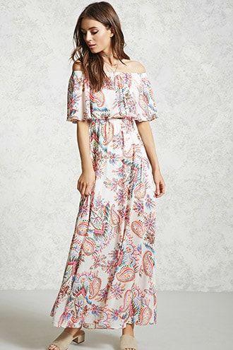 dcb72afa3d24 Off-the-Shoulder Maxi Dress